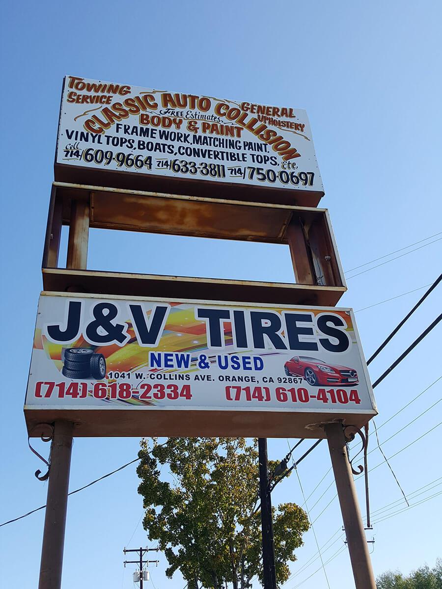 J & V Tires Orange CA